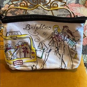 Brighton Logo Canvas Shopping Girls Makeup Bag